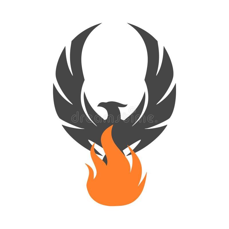 Het embleem van Phoenix, het pictogram van Phoenix, eenvoudig vectorpictogram royalty-vrije illustratie