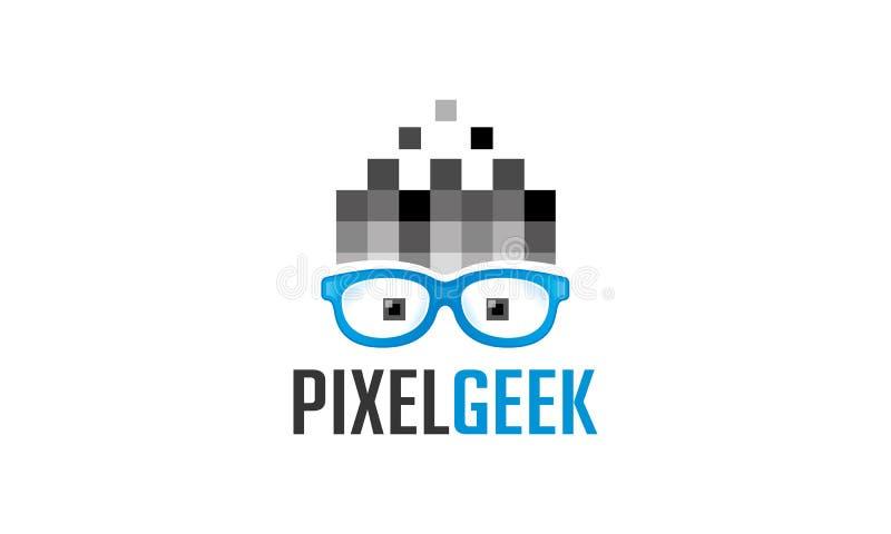 Het Embleem van pixelgeek vector illustratie