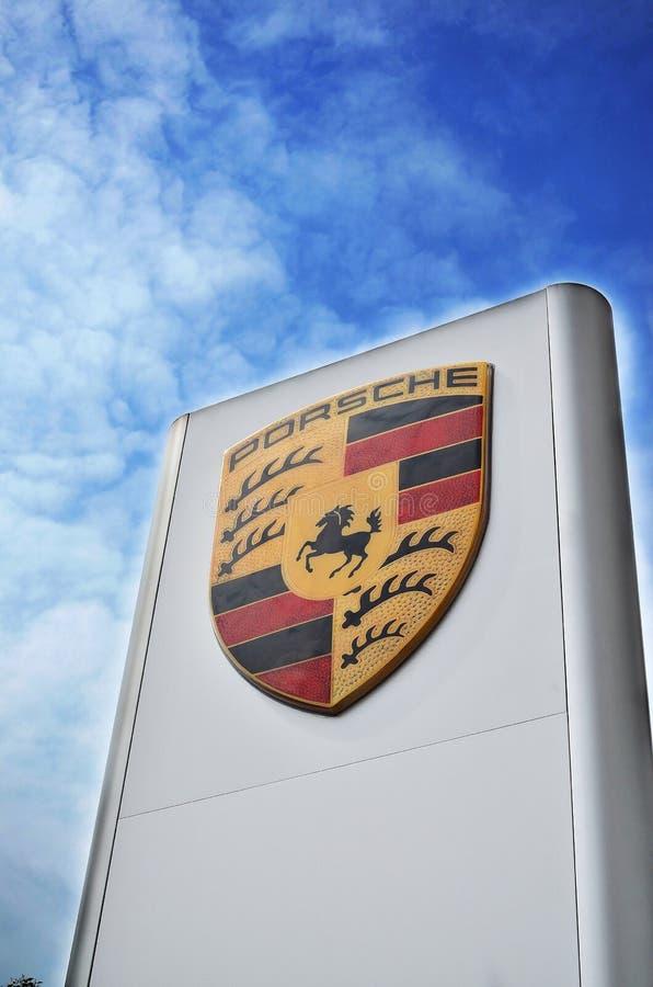Het embleem van Porsche stock afbeelding