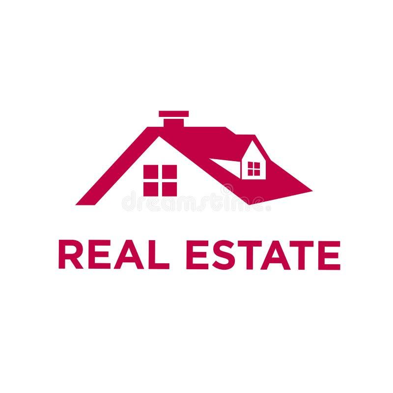 Het Embleem van Real Estate Minimalis royalty-vrije illustratie