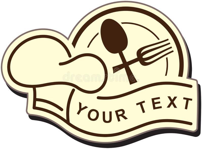 Het embleem van het restaurant royalty-vrije illustratie
