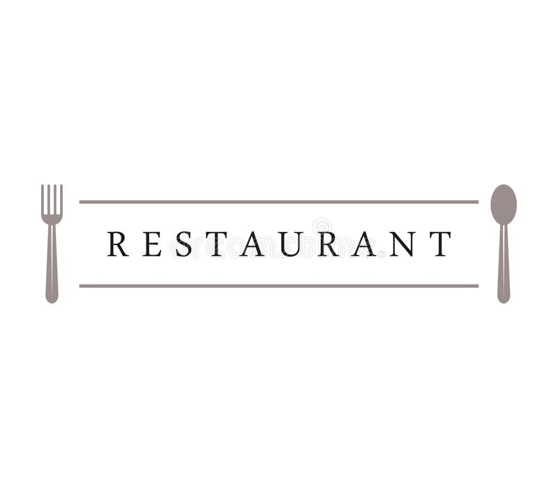 Het embleem van het restaurant stock afbeelding