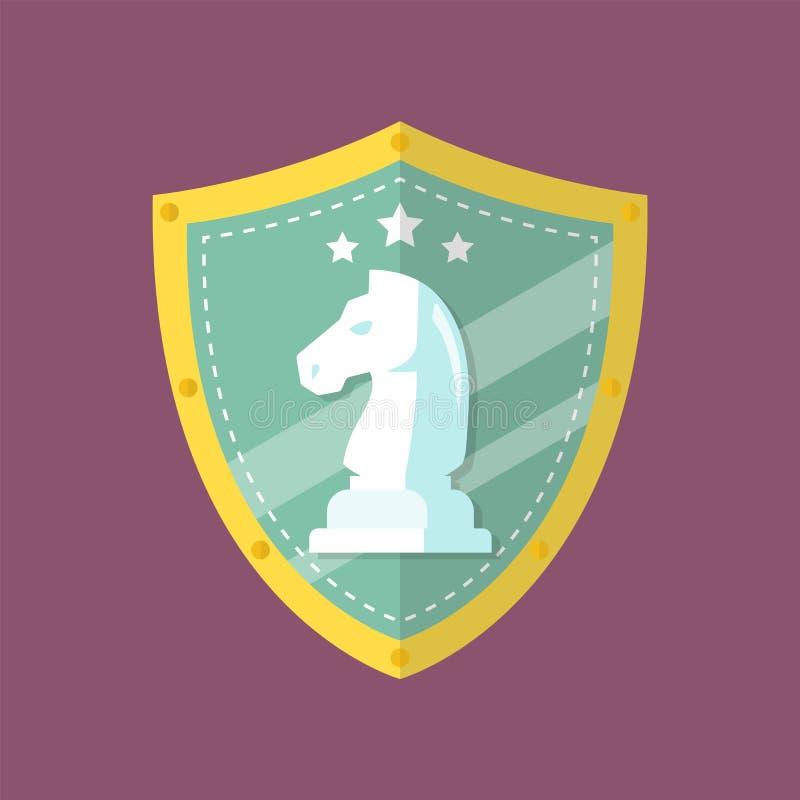 Het embleem van ridderchess emblem stock illustratie