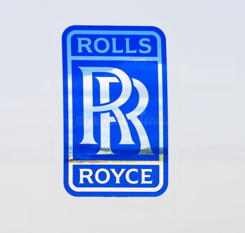 Het embleem van Rolls Royce Rusland, Moskou Juli 2017 stock foto