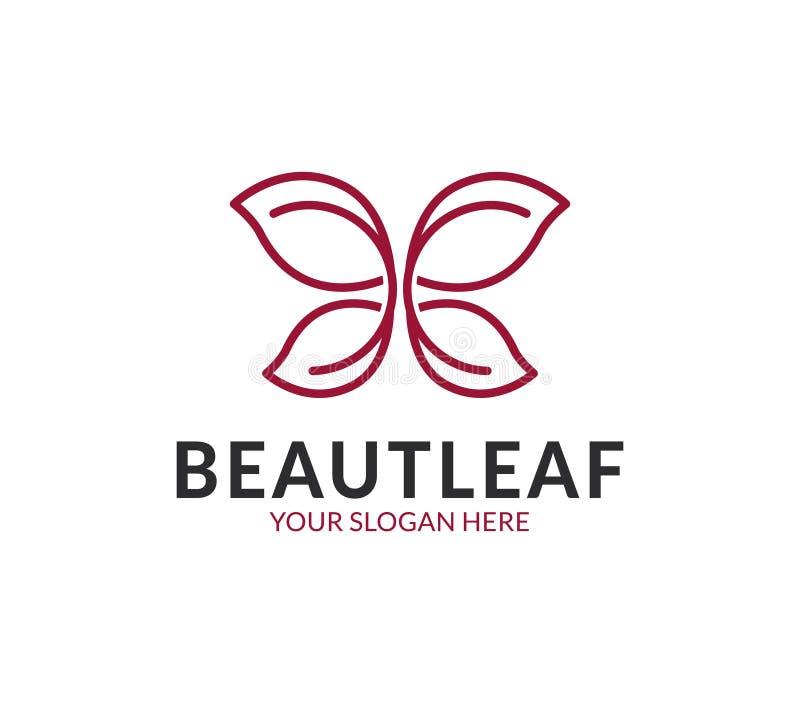 Het embleem van het schoonheidsblad vector illustratie