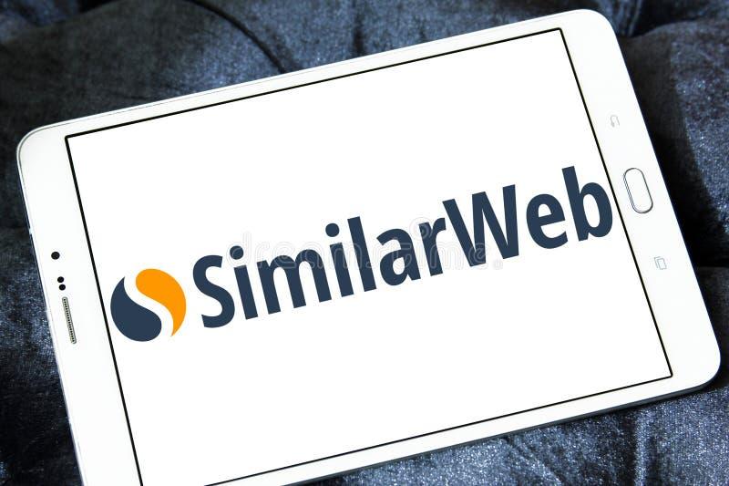 Het embleem van het SimilarWebbedrijf stock afbeelding