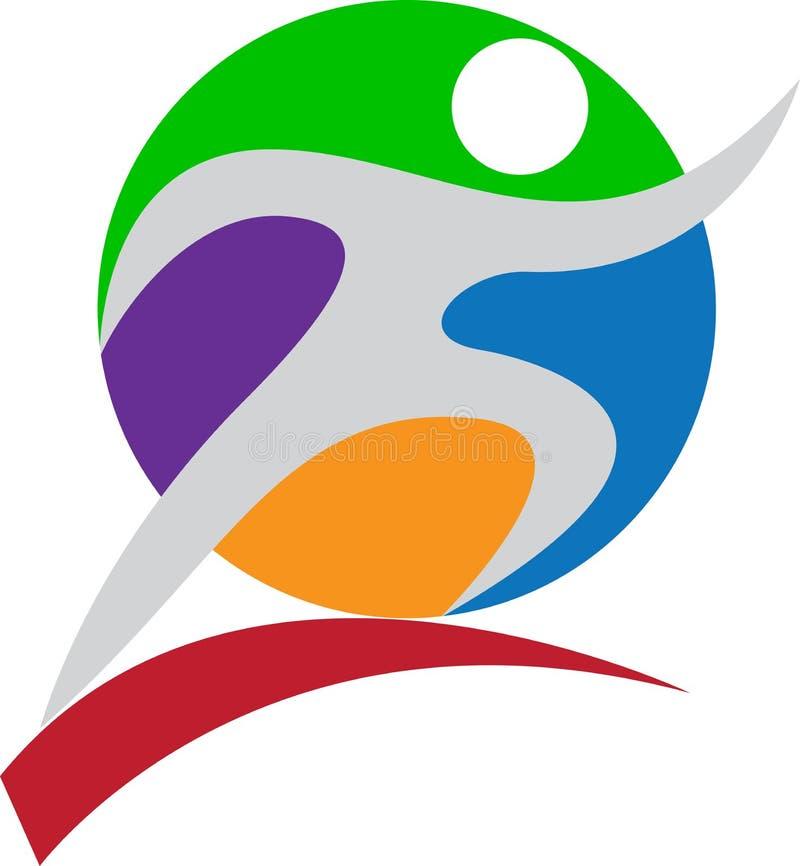 Het embleem van sporten vector illustratie
