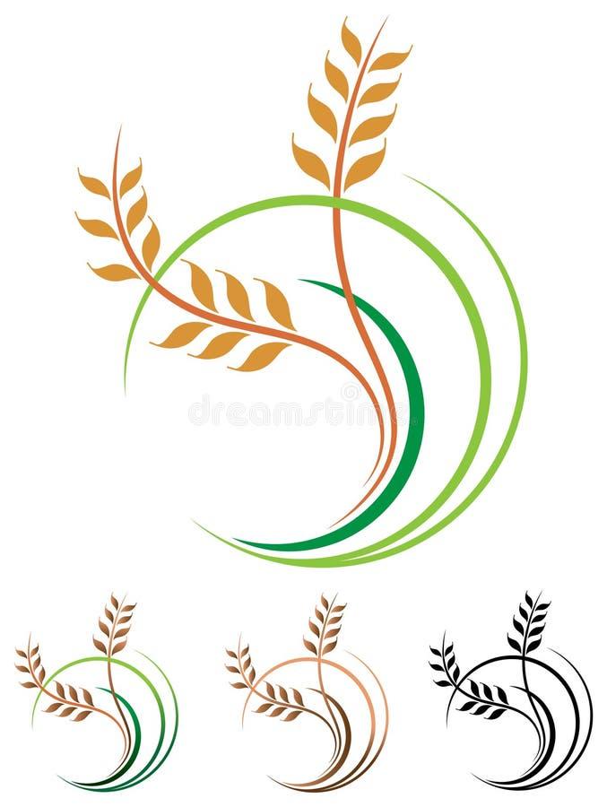Het embleem van tarwekorrels royalty-vrije illustratie
