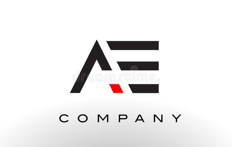 Het Embleem van VE De Vector van het brievenontwerp stock illustratie