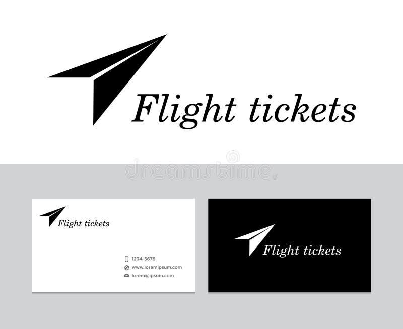 Het embleem van vluchtkaartjes vector illustratie