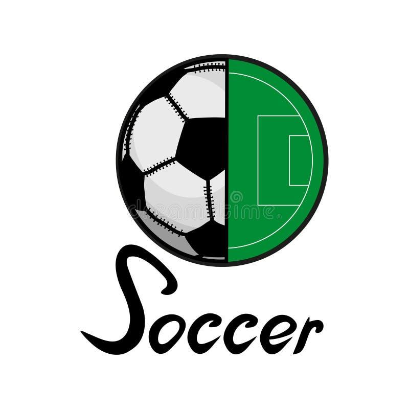 Het embleem van het voetbal stock illustratie