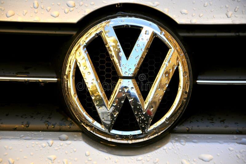 Het embleem van Volkswagen royalty-vrije stock afbeeldingen