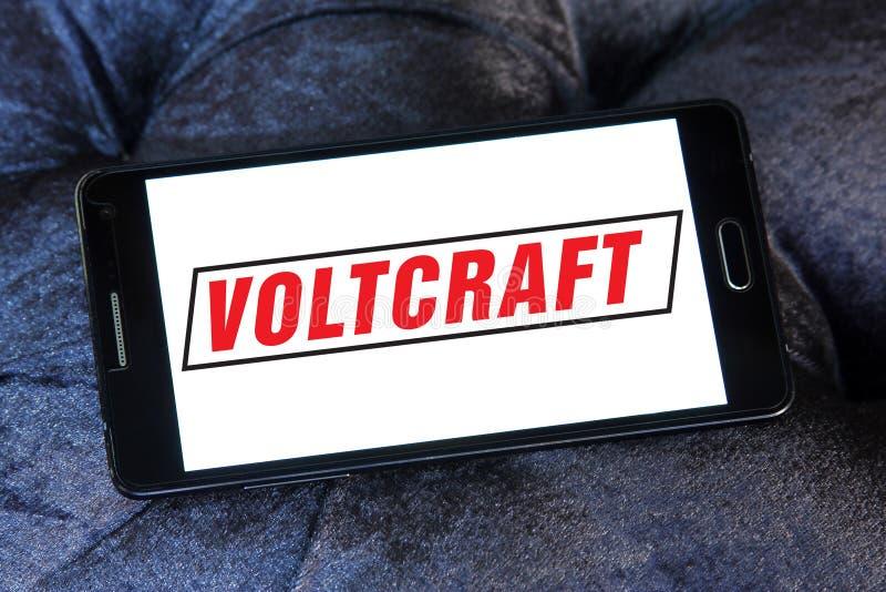Het embleem van het Voltcraftbedrijf stock foto