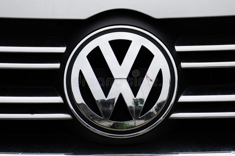 Het embleem van VW stock foto