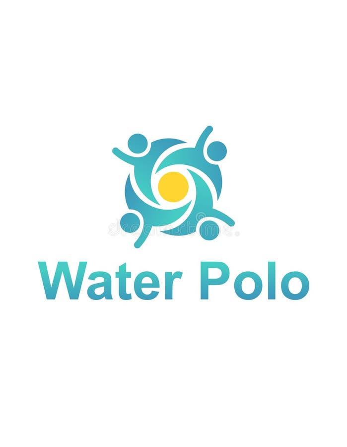 Het embleem van het waterpolo stock illustratie