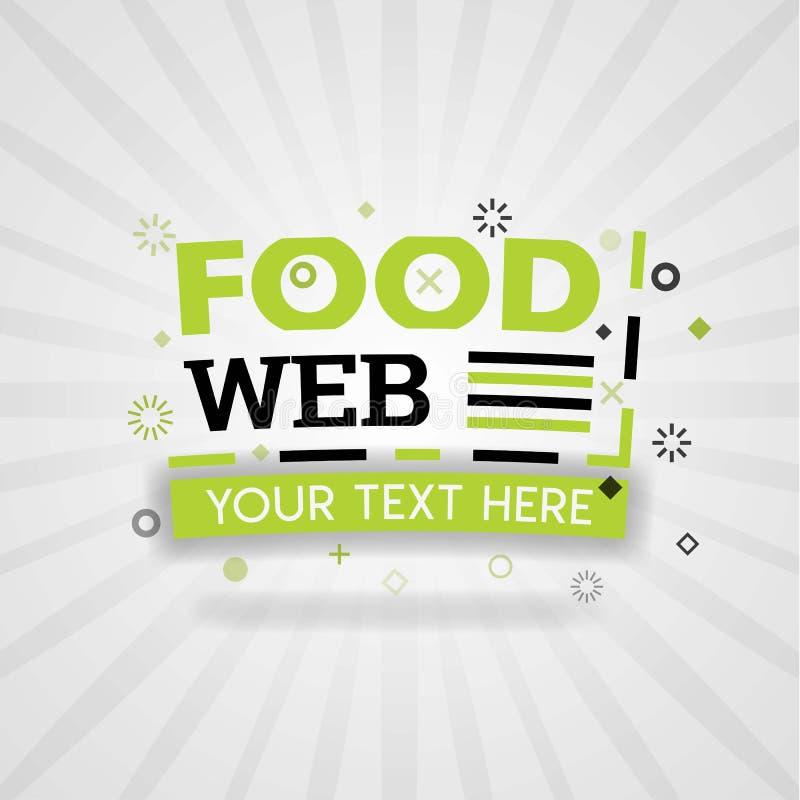 Het embleem van het Webvoedsel en bannerwebpagina voor de receptenkookboek van het maaltijdvoedsel en maaltijdvoedsel stock illustratie