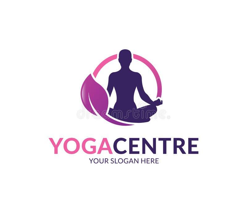 Het Embleem van het yogacentrum vector illustratie