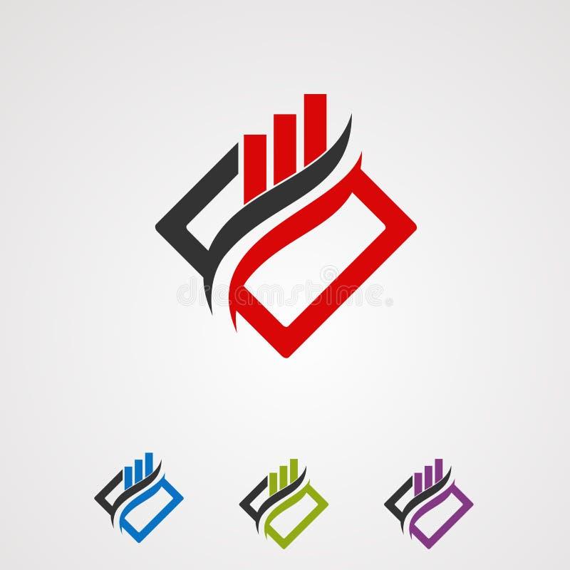 Het embleem vectorconcept, pictogram, element, en malplaatje van de doosmarkt voor bedrijf royalty-vrije illustratie