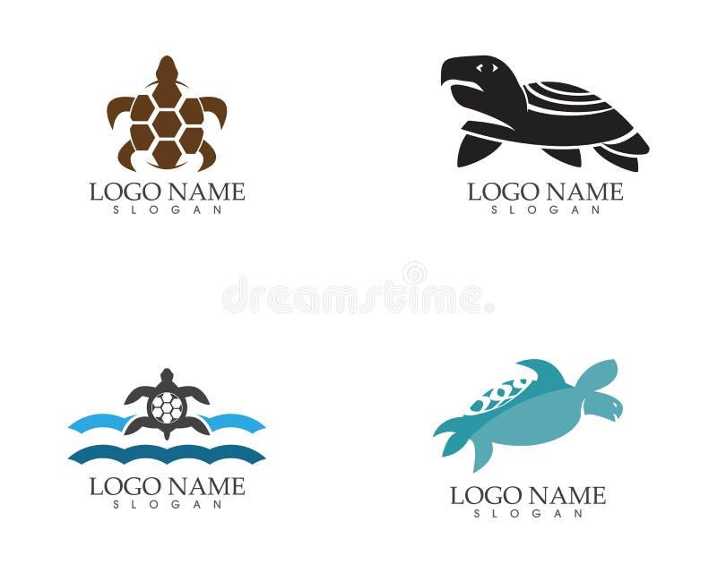 Het embleem vectorillustratie van het zeeschildpadpictogram vector illustratie