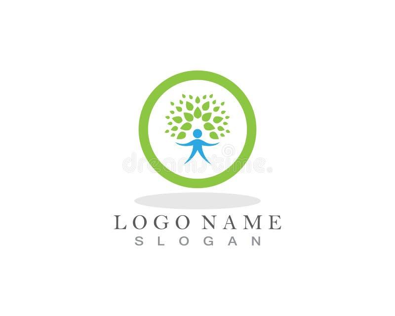 het embleem vectorpictogram van het boommensenleven stock illustratie