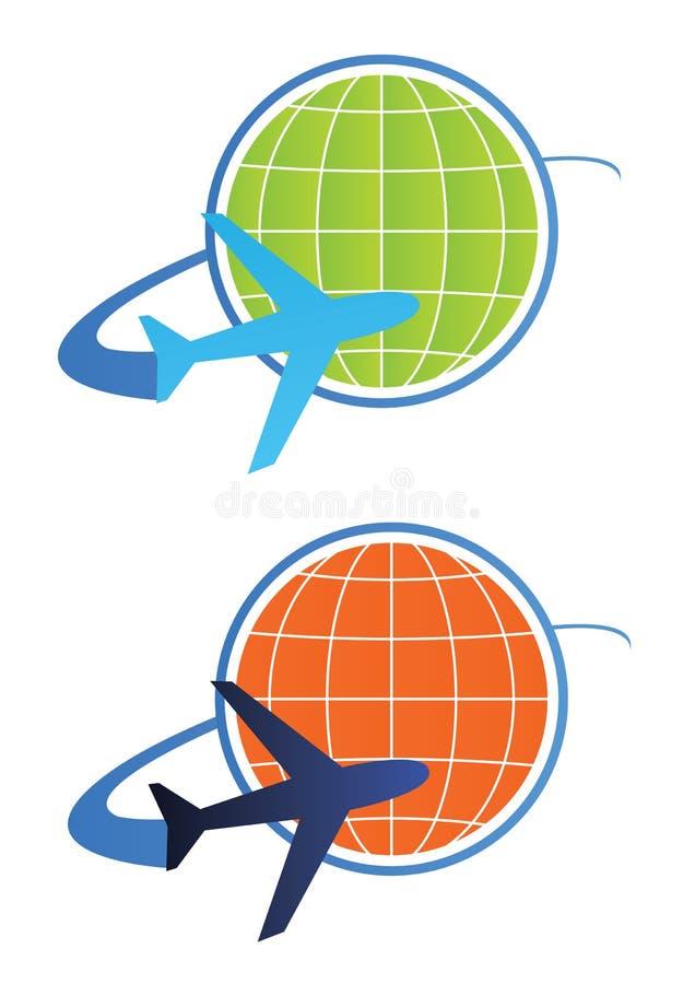 Het embleemconcept van de reis - vector vector illustratie