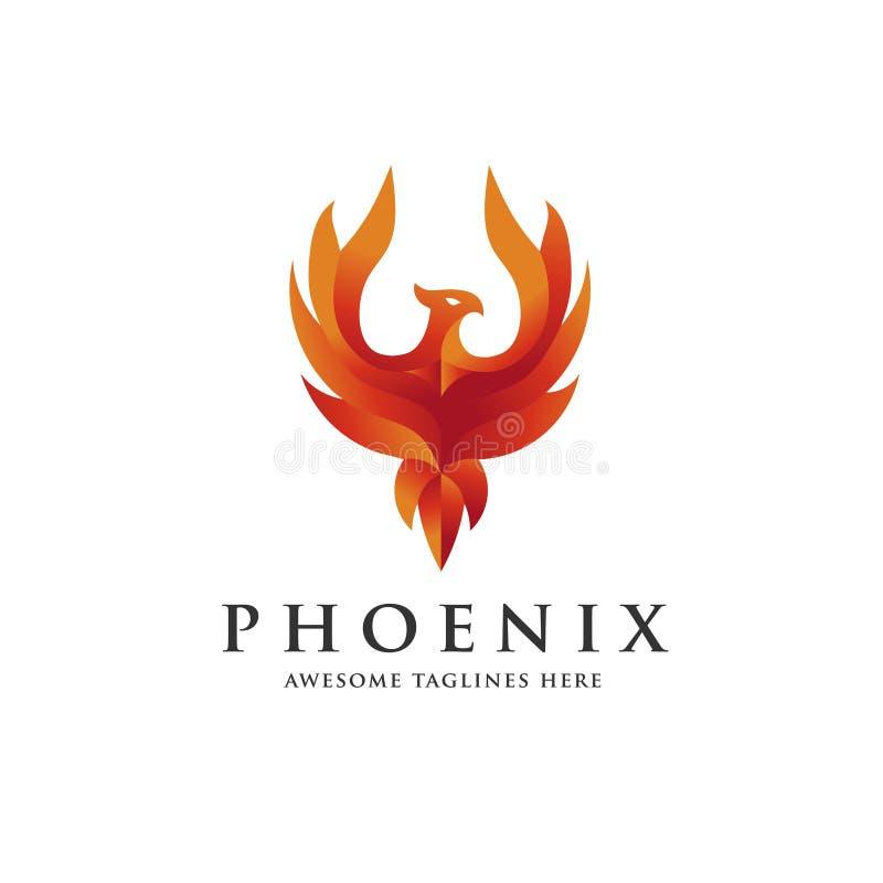 Het embleemconcept van luxephoenix stock illustratie