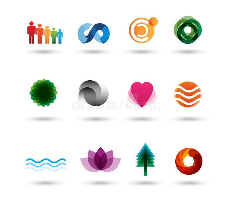 Het embleemelementen van het ontwerp vector illustratie