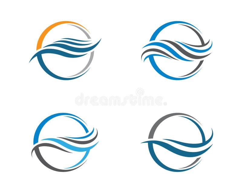 Het embleemillustratie van de watergolf vector illustratie