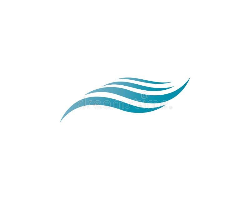 Het embleemillustratie van de watergolf stock illustratie