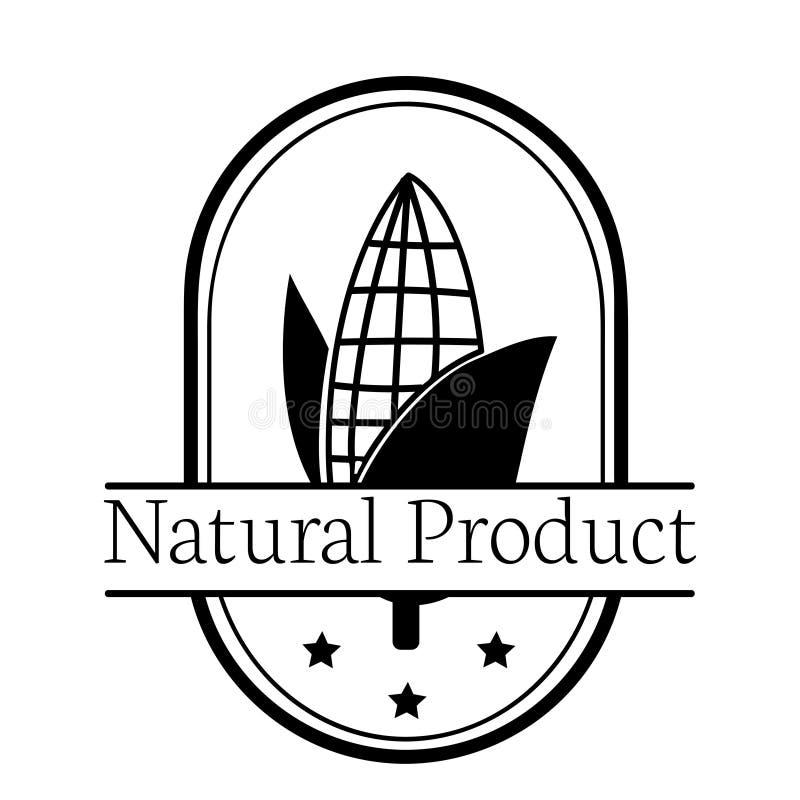 Het embleemillustratie van het graan natuurlijke product stock illustratie