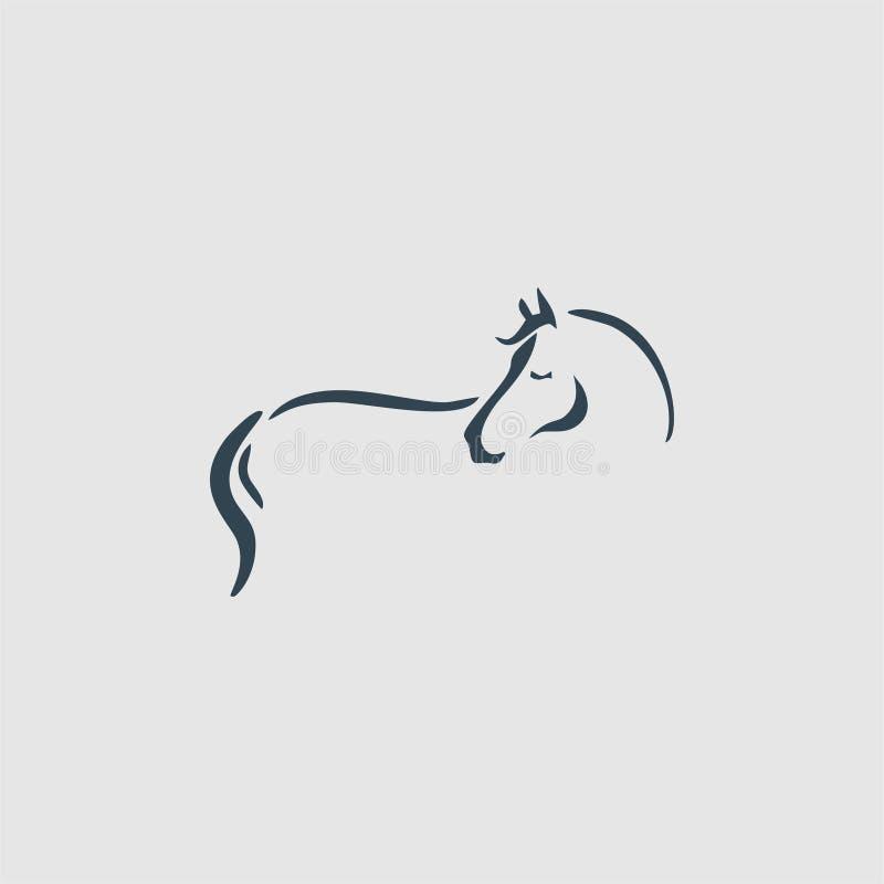 Het embleeminspiratie van het paardmonogram royalty-vrije illustratie
