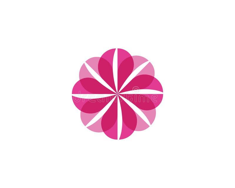 Het embleemmalplaatje van het bloempictogram stock afbeelding