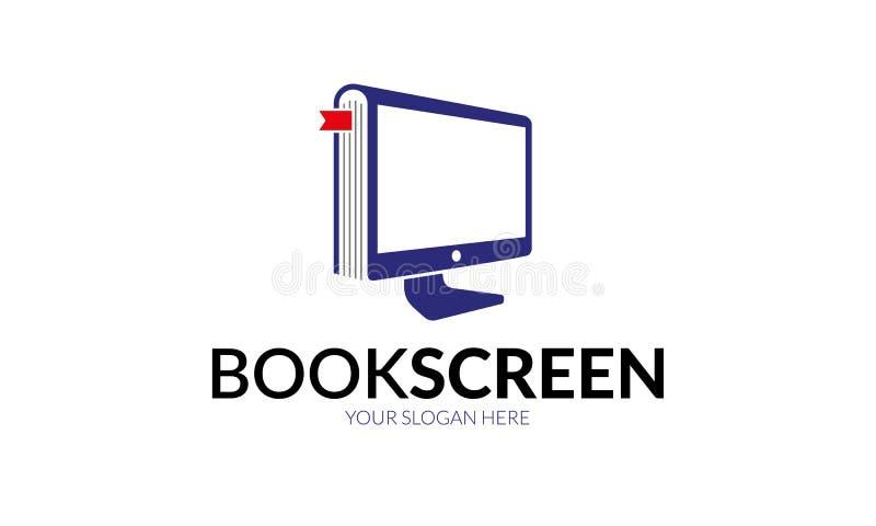 Het Embleemmalplaatje van het boekscherm royalty-vrije illustratie