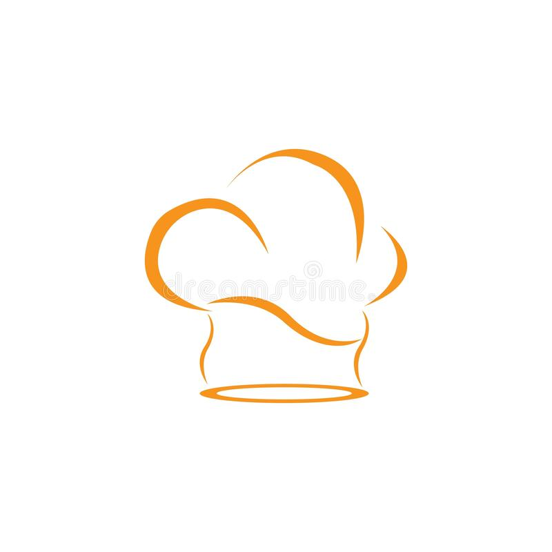 het embleemmalplaatje van de hoedenchef-kok vector illustratie