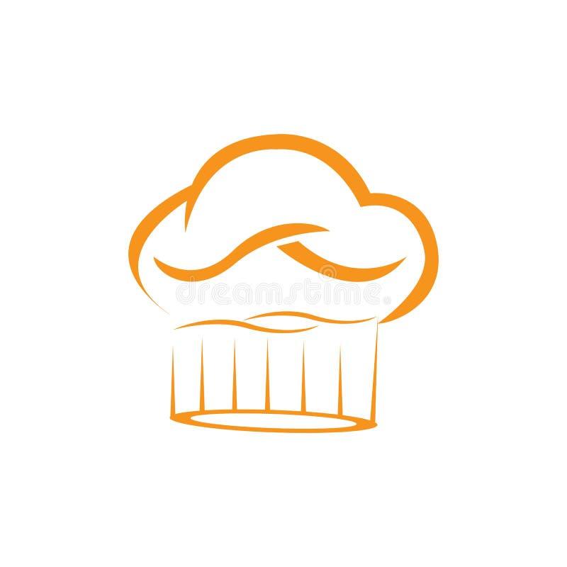 het embleemmalplaatje van de hoedenchef-kok royalty-vrije illustratie