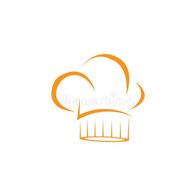 het embleemmalplaatje van de hoedenchef-kok stock illustratie