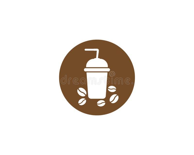Het embleemmalplaatje van de koffiekop royalty-vrije illustratie