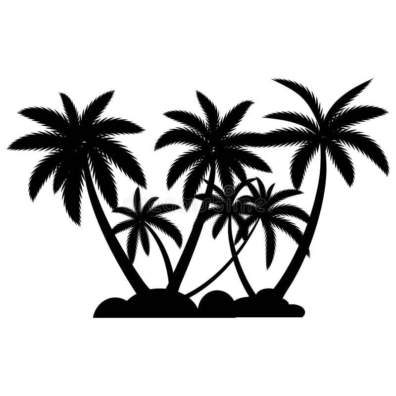 Het embleemmalplaatje van de palmzomer royalty-vrije illustratie