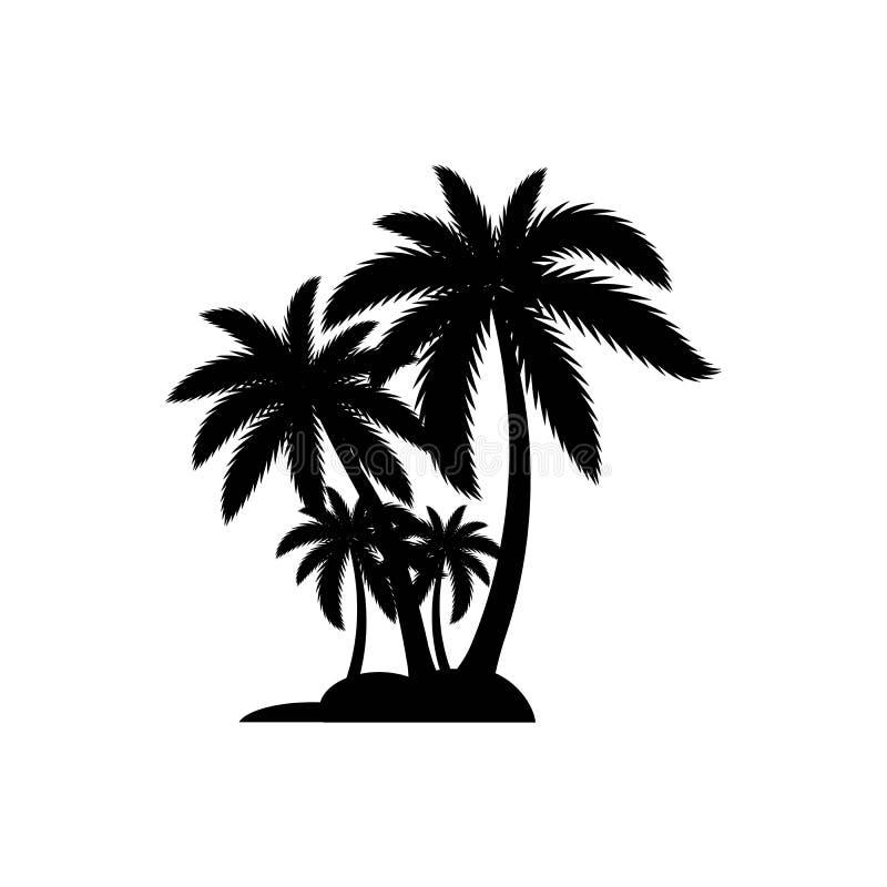 Het embleemmalplaatje van de palmzomer vector illustratie