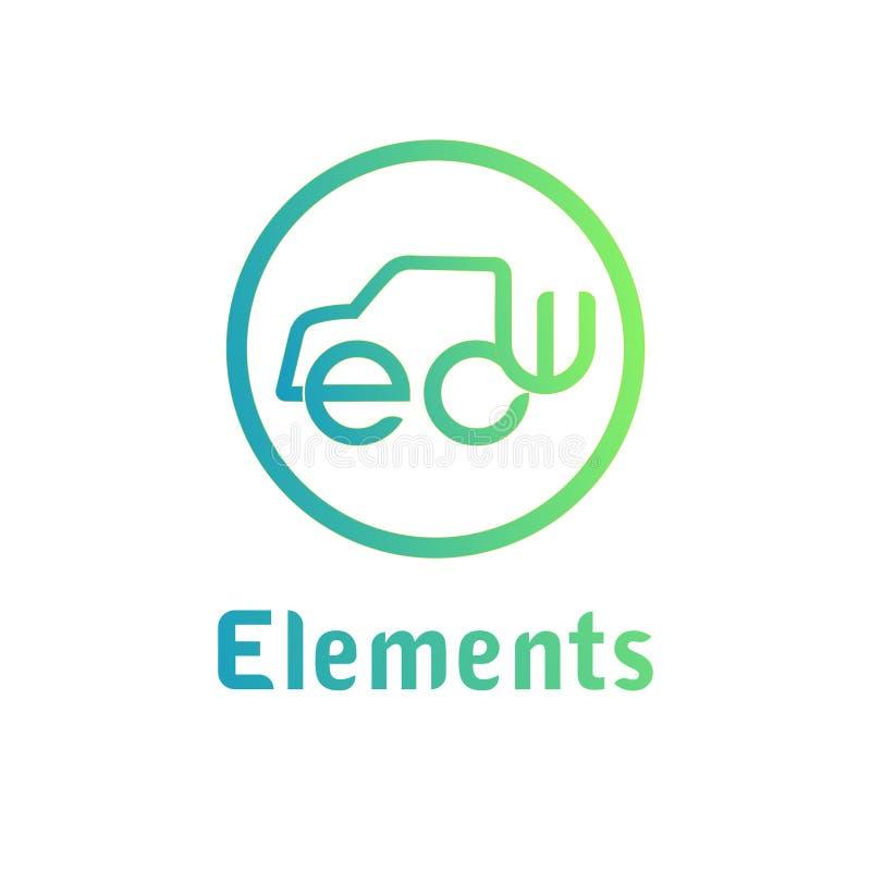 Het embleemmalplaatje van het elementen abstract teken royalty-vrije illustratie