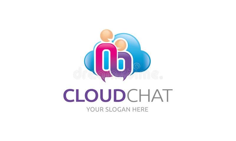 Het embleemmalplaatje van het wolkenpraatje stock illustratie