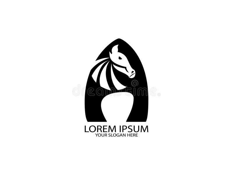 Het embleemontwerp is het hoofd van zebra in combinatie met de brief A vector illustratie