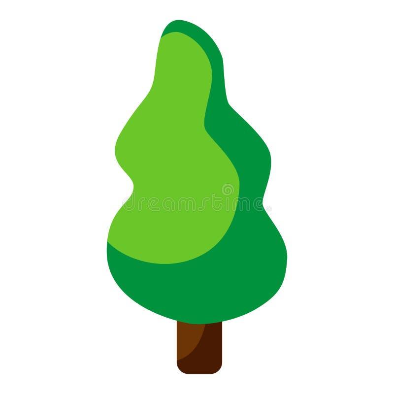 Het embleemontwerp van het boompictogram Het Pictogram van het pijnboomsilhouet Vlakke vector ge?soleerde illustratie vector illustratie