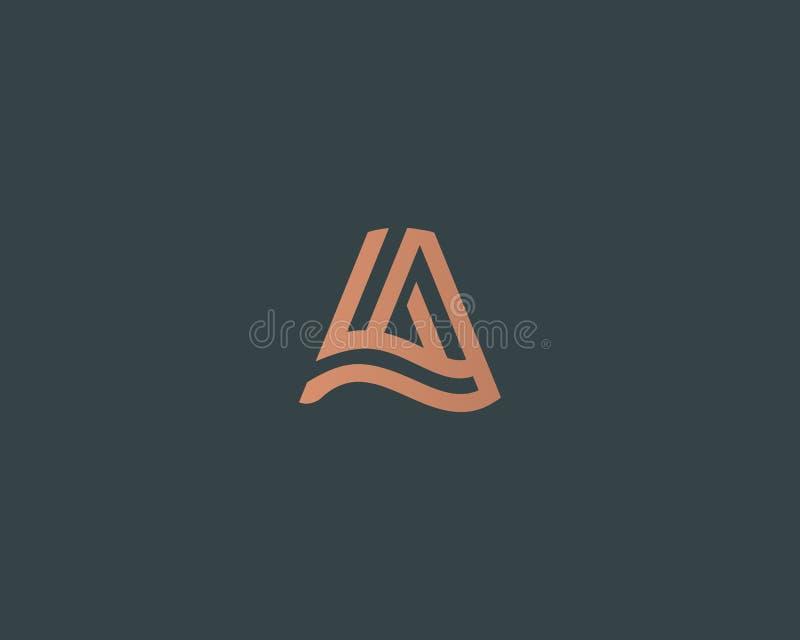 Het embleemontwerp van de brievena vectorlijn Het creatieve symbool van het minimalism logotype pictogram stock illustratie