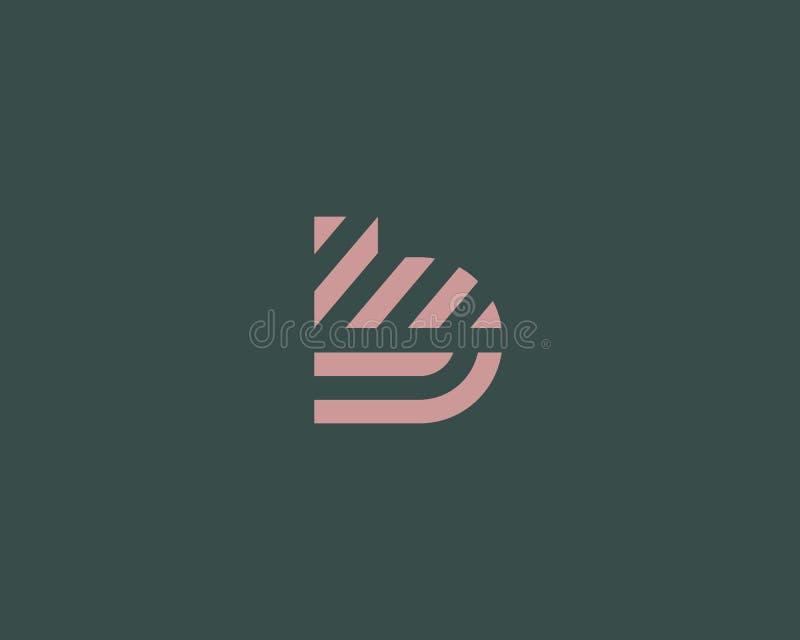 Het embleemontwerp van de brievenb vectorlijn Het creatieve symbool van het minimalism logotype pictogram royalty-vrije illustratie