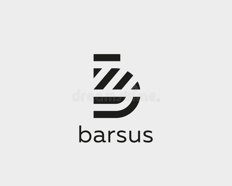 Het embleemontwerp van de brievenb vectorlijn Het creatieve symbool van het minimalism logotype pictogram vector illustratie