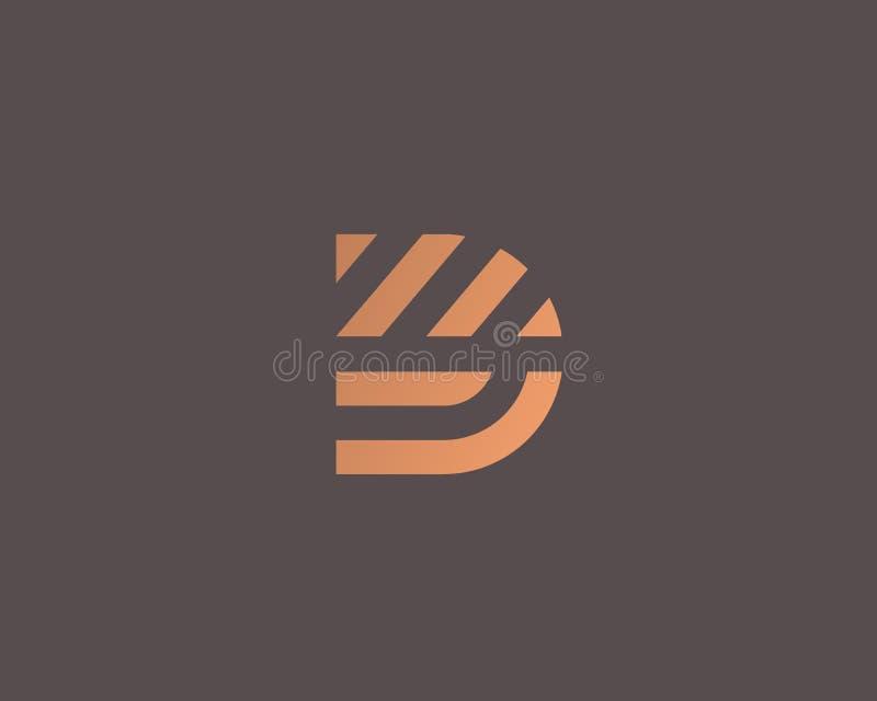 Het embleemontwerp van de brievend vectorlijn Het creatieve symbool van het minimalism logotype pictogram vector illustratie