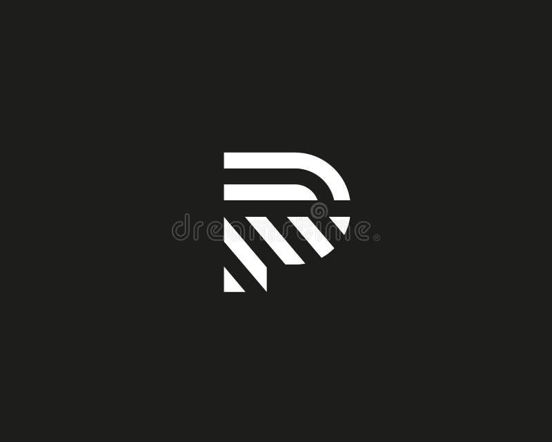 Het embleemontwerp van de brievenp vectorlijn Het creatieve symbool van het minimalism logotype pictogram vector illustratie