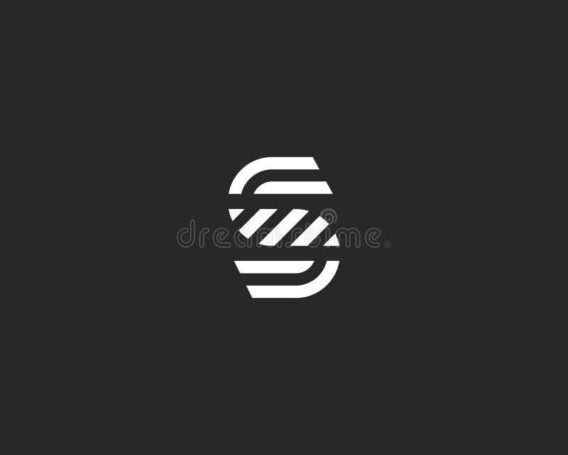 Het embleemontwerp van de brievens vectorlijn Het creatieve symbool van het minimalism logotype pictogram stock illustratie