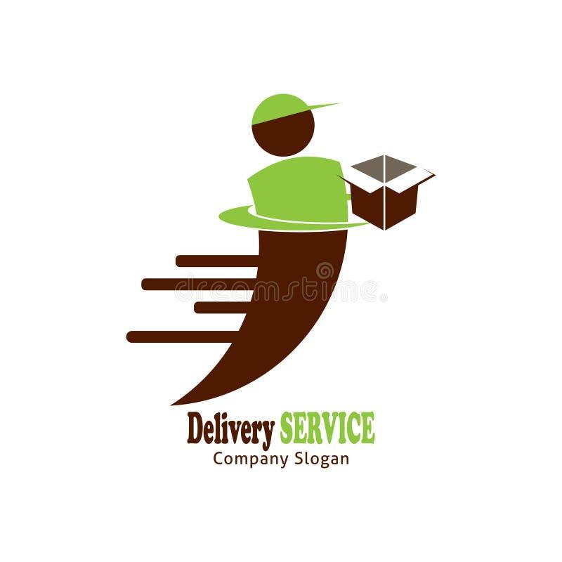 Het embleemontwerp van de leveringsdienst vector illustratie